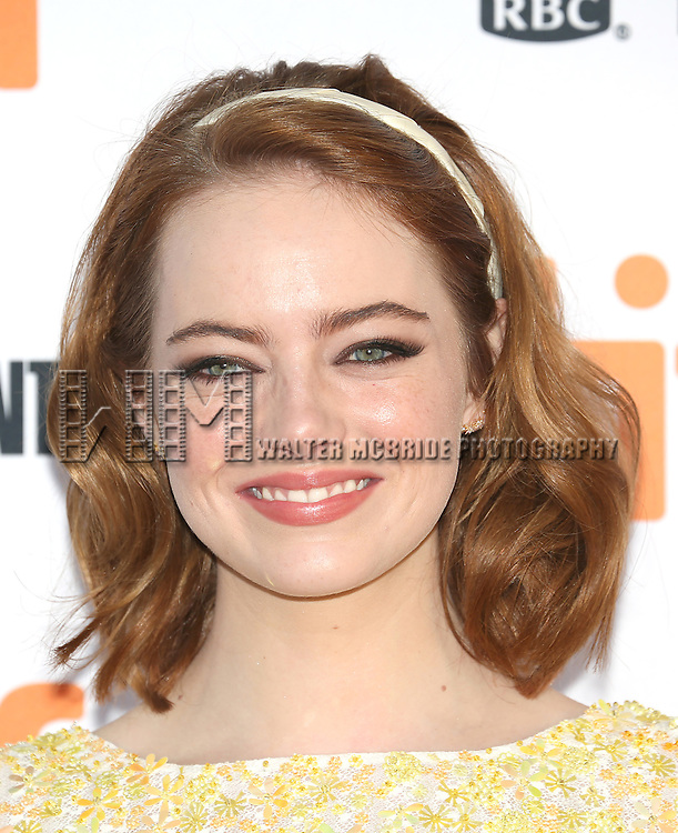 Emma Stone attends the 'La La Land' Premiere during the 2016 Toronto International Film Festival at Princess of Wales Theatre on September 12, 2016 in Toronto, Canada.