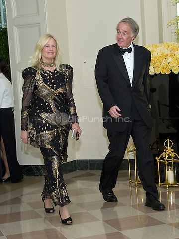 United States Senator Edward Markey (Democrat Massachusetts) and Rear Admiral Susan Blumenthal arrive for the State Dinner honoring Prime Minister Lee Hsien Loong of the Republic of Singapore at the White House in Washington, DC on Tuesday, August 2, 2016.<br /> Credit: Ron Sachs / Pool via CNP/MediaPunch