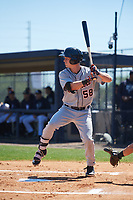 Detroit Tigers Luke Burch (58) during a Minor League Spring Training game against the New York Yankees on March 21, 2018 at the New York Yankees Minor League Complex in Tampa, Florida.  (Mike Janes/Four Seam Images)
