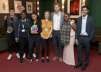 17 November 2019 - London, UK - Prince Harry Duke of Sussex poses for a group shot as he meets nominees, winners and performers at the inaugural OnSide Awards at the Royal Albert Hall. Photo Credit: ALPR/AdMedia