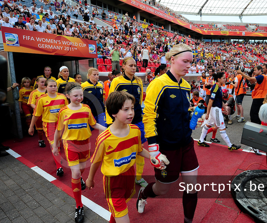 Fifa Women's World Cup Germany 2011 : Colombia - Sweden at Bayarena Leverkusen : Hedvig Lindahl..foto DAVID CATRY / Vrouwenteam.be