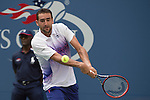 Marin Cilic (CRO) defeats Evgeny Donskoy (RUS)  6-2, 6-3, 7-5 at the US Open in Flushing, NY on September 2, 2015.
