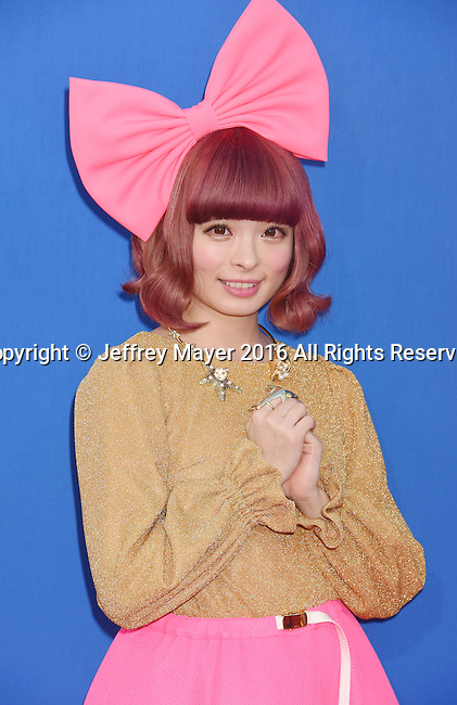 LOS ANGELES, CA - DECEMBER 03: Model/singer Kyary Pamyu Pamyu arrives at the Premiere Of Universal Pictures' 'Sing' at the Microsoft Theater at L.A. Live on December 3, 2016 in Los Angeles, California.