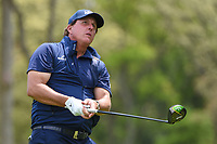 Phil Mickelson (USA) watches his tee shot on 12 during round 4 of the 2019 PGA Championship, Bethpage Black Golf Course, New York, New York,  USA. 5/19/2019.<br /> Picture: Golffile | Ken Murray<br /> <br /> <br /> All photo usage must carry mandatory copyright credit (© Golffile | Ken Murray)