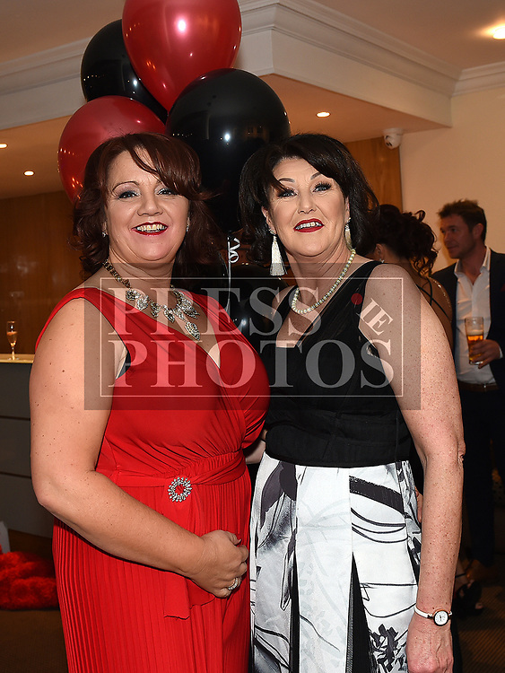 Suzanne O'Keeffe and Mary Coyle at the Odie Wants to Walk Valentine Ball in the Glenside hotel. Photo:Colin Bell/pressphotos.ie