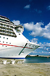 Cruise Ship: Carnival Spirit, profile of ship,  Photo: carniv103 .Photo copyright Lee Foster, 510/549-2202,  lee@fostertravel.com, www.fostertravel.com