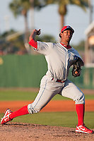 May 8 2010: J.C. Ramirez (7) of the Clearwater Threshers during a game vs. the Daytona Cubs at Jackie Robinson Ballpark in Daytona Beach, Florida. Clearwater, the Florida State League High-A affiliate of the Philadelphia Phillies, lost the game against Daytona, affiliate of the Chicago Cubs, by the score of 4-1.  Photo By Scott Jontes/Four Seam Images
