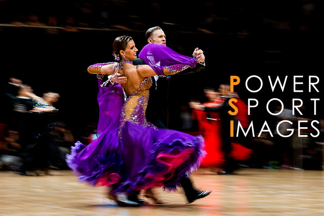 Patrick Rucinski and Ella Nusenbaum of Canada during the WDSF GrandSlam Standard on the Day 2 of the WDSF GrandSlam Hong Kong 2014 on June 01, 2014 at the Queen Elizabeth Stadium Arena in Hong Kong, China. Photo by AItor Alcalde / Power Sport Images