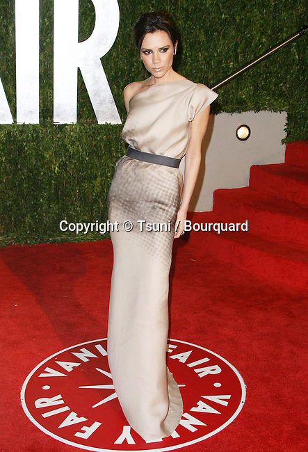 Victoria Beckham _14   -<br /> Vanity Fair After Oscars Party In Los Angeles.