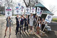 Geordie Shore Cast at the launch of spoof political party 'The Geordie Party' at Speakers Corner, Hyde Park, London. 11/03/2015 Picture by: Steve Vas / Featureflash