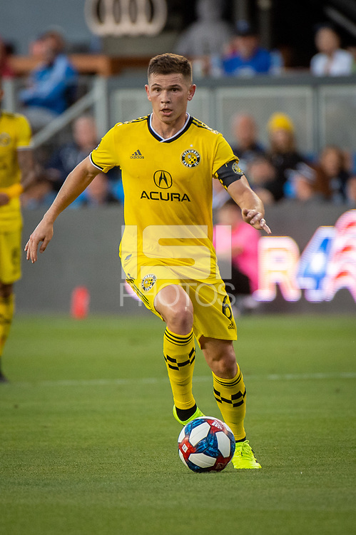 San Jose, CA - Saturday August 03, 2019: Wil Trapp #6 in a Major League Soccer (MLS) match between the San Jose Earthquakes and the Columbus Crew at Avaya Stadium.