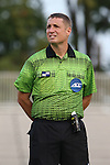 05 September 2015: Referee Mark Kadlecik. The Duke University Blue Devils hosted the Iona University Gaels at Koskinen Stadium in Durham, NC in a 2015 NCAA Division I Men's Soccer match. Duke won the game 2-1.