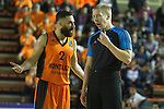 Montakit Fuenlabrada's Marko Popovic have words with the referee during Eurocup, Regular Season, Round 6 match. November 16, 2016. (ALTERPHOTOS/Acero)