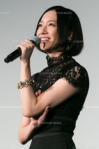 Nocchi a member of the Japanese pop girl group Perfume speaks during a stage greeting for the movie ''WE ARE Perfume WORLD TOUR 3rd DOCUMENT'' at TOHO CINEMAS in Roppongi on October 24, 2015, Tokyo, Japan. Perfume's movie will be released in Japanese theaters on October 31. The screening is part of the 28th Tokyo International Film Festival which is one of the biggest film festivals in Asia and runs from October 22 to Saturday 31. (Photo by Rodrigo Reyes Marin/AFLO)