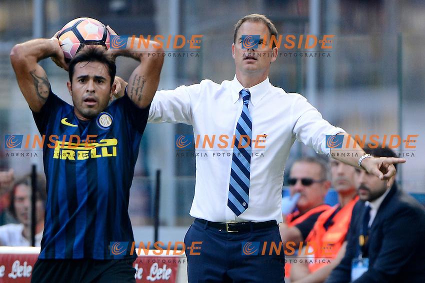 Frank De Boer allenatore Inter coach con Eder<br /> Milano 25-09-2016 Stadio Giuseppe Meazza - Football Calcio Serie A Inter - Bologna. Foto Giuseppe Celeste / Insidefoto