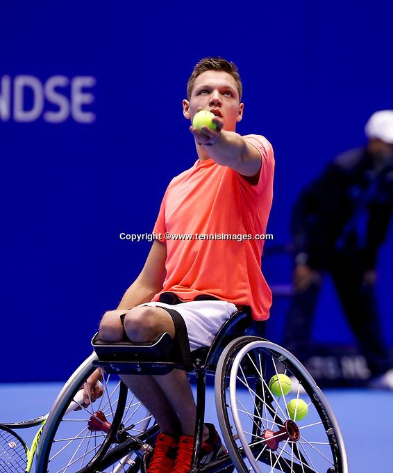 Rotterdam, Netherlands, December 13, 2017, Topsportcentrum, Ned. Loterij NK Tennis, Wheelchair, Ruben Spaargaren (NED)<br /> Photo: Tennisimages/Henk Koster