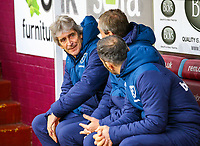 West Ham United manager Manuel Pellegrini takes his seat on the bench<br /> <br /> Photographer Alex Dodd/CameraSport<br /> <br /> The Premier League - Burnley v West Ham United - Sunday 30th December 2018 - Turf Moor - Burnley<br /> <br /> World Copyright © 2018 CameraSport. All rights reserved. 43 Linden Ave. Countesthorpe. Leicester. England. LE8 5PG - Tel: +44 (0) 116 277 4147 - admin@camerasport.com - www.camerasport.com