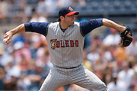 Starting pitcher Chris Lambert #22 of the Toledo Mudhens in action versus the Norfolk Tides at Harbor Park June 7, 2009 in Norfolk, Virginia. (Photo by Brian Westerholt / Four Seam Images)