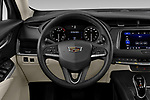 Car pictures of steering wheel view of a 2020 Cadillac XT4 Premium Luxury 5 Door SUV