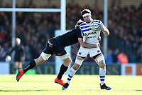 Francois Louw of Bath Rugby is tackled. Gallagher Premiership match, between Exeter Chiefs and Bath Rugby on March 24, 2019 at Sandy Park in Exeter, England. Photo by: Patrick Khachfe / Onside Images