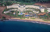 Aerial of the Four Seasons hotel, Wailea beach, Maui