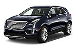 2018 Cadillac XT5 AWD-Platinum 5 Door SUV Angular Front stock photos of front three quarter view