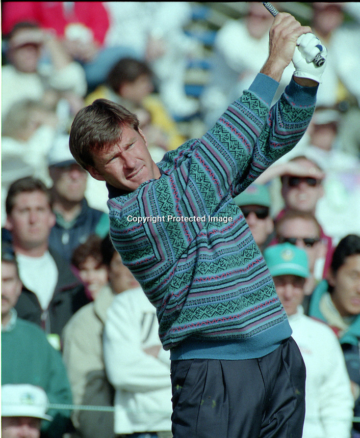 Nick Faldo at AT&T golf at Pebble Beach (1995 photo/Ron Riesterer)