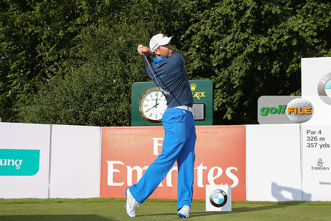Sergio Garcia (ESP) tees off during the Pro-Am day of the BMW International Open 2014 from Golf Club Gut Lärchenhof, Pulheim, Köln, Germany. Picture:  David Lloyd / www.golffile.ie