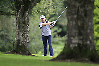 Christine McKee (Warrenpoint) during the final  of the Ulster Mixed Foursomes at Killymoon Golf Club, Belfast, Northern Ireland. 26/08/2017<br /> Picture: Fran Caffrey / Golffile<br /> <br /> All photo usage must carry mandatory copyright credit (&copy; Golffile   Fran Caffrey)