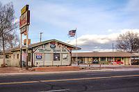 The Aztec Motel on Route 66 in Seligman Arizona.