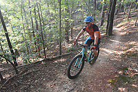 NWA Democrat-Gazette/FLIP PUTTHOFF<br />Tomek Siwiec said the Bashore Loop at Hobbs State Park-Conservation Area is a good starter trail because there surface is fairly smooth and there are no technical features. There are is some gradual uphill that helps beginners develop climbing skills.