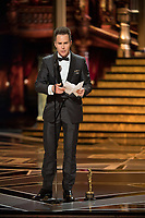 Sam Rockwell accepts the Oscar&reg; for performance by an actor in a supporting role for work on &ldquo;Three Billboards Outside Ebbing, Missouri&rdquo; during the live ABC Telecast of The 90th Oscars&reg; at the Dolby&reg; Theatre in Hollywood, CA on Sunday, March 4, 2018.<br /> *Editorial Use Only*<br /> CAP/PLF/AMPAS<br /> Supplied by Capital Pictures