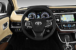 Steering wheel view of a 2013 Toyota Avalon Sedan Limited