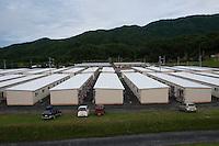Daytime landscape view of a temporary community center following the 311 Tohoku Tsunami in Kamaishi, Japan  © LAN