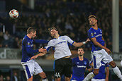 28th September 2017, Goodison Park, Liverpool, England; UEFA Europa League group stage, Everton versus Apollon Limassol; Hector Yuste of Apollon Limassol scores in the 88th minute to make it 2-2
