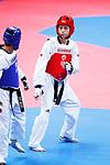 Sergio Suzuki (JPN), <br /> AUGUST 20, 2018 - Taekwondo : <br /> Men's -58kg Quarter-final <br /> at Jakarta Convention Center Plenary Hall <br /> during the 2018 Jakarta Palembang Asian Games <br /> in Jakarta, Indonesia. <br /> (Photo by Naoki Morita/AFLO SPORT)