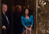 Sheri Dillon in the elevator at Trump Tower on January 17, 2017 in New York City. U.S. President Elect Donald Trump is still holding meetings upstairs at Trump Tower just 3 days before the inauguration.   <br /> Credit: Bryan R. Smith / Pool via CNP