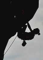 CALI - COLOMBIA - 04-08-2013: Magdalena Rock de Austria en competencia de Escalada de Muralla en los IX Juegos Mundiales Cali, agosto 4 de 2013. (Foto: VizzorImage / Luis Ramirez / Staff). Magdalena Rock from Austria in competition of Climbing Wall in the IX World Games Cali, August 4 2013. (Photo: VizzorImage / Luis Ramirez / Staff).