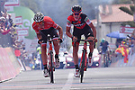 Silvan Dillier (SUI) BMC Racing Team wins Stage 6 of the 100th edition of the Giro d'Italia 2017, running 217km from Reggio Calabria to Terme Luigiane, Italy. 11th May 2017.<br /> Picture: LaPresse/Gian Mattia D'Alberto | Cyclefile<br /> <br /> <br /> All photos usage must carry mandatory copyright credit (&copy; Cyclefile | LaPresse/Gian Mattia D'Alberto)