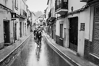 fast/tricky/slippery/narrow/nervous town passages in Mallorca when it rains...<br /> <br /> Trofeo Lloseta - Andratx: 140km<br /> 27th Challenge Ciclista Mallorca 2018