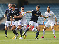 Millwall's Conor McLaughlin and Ryan Leonard challenge Leeds United's Ezgjan&nbsp;Alioski<br /> <br /> Photographer Rob Newell/CameraSport<br /> <br /> The EFL Sky Bet Championship - Millwall v Leeds United - Saturday 15th September 2018 - The Den - London<br /> <br /> World Copyright &copy; 2018 CameraSport. All rights reserved. 43 Linden Ave. Countesthorpe. Leicester. England. LE8 5PG - Tel: +44 (0) 116 277 4147 - admin@camerasport.com - www.camerasport.com