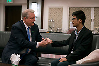 An Inconvenient Sequel: Truth to Power (2017)<br /> Al Gore with John Leonard Chan, Climate Leadership Trainee in the Philippines and survivor of the Typhoon Haiyan<br /> *Filmstill - Editorial Use Only*<br /> CAP/FB<br /> Image supplied by Capital Pictures
