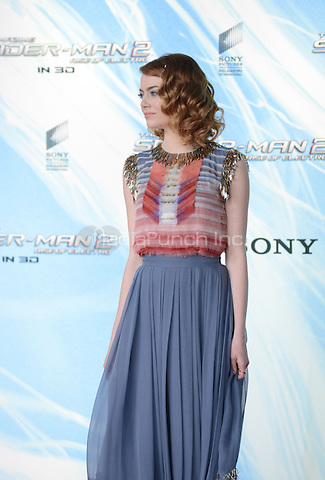 Emma Stone attending the &quot;Amazing Spider-Man 2&quot; Premiere at the CineStar IMAX, Sony Center, Potsdamer Platz, Berlin, Germany, 15.4.2014. <br /> Photo by Janne Tervonen/insight media /MediaPunch ***FOR USA ONLY***