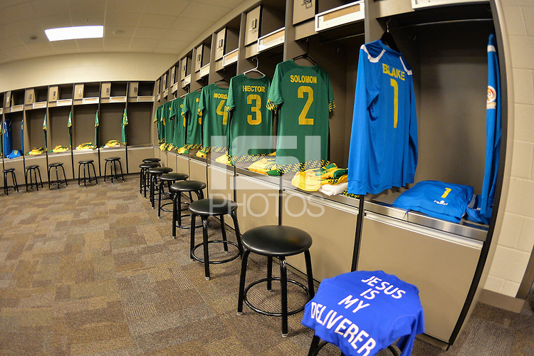 Santa Clara, CA - Monday June 13, 2016: Jamaica Locker Room during a Copa America Centenario Group C match between Uruguay (URU) and Jamaica (JAM) at Levi's Stadium.