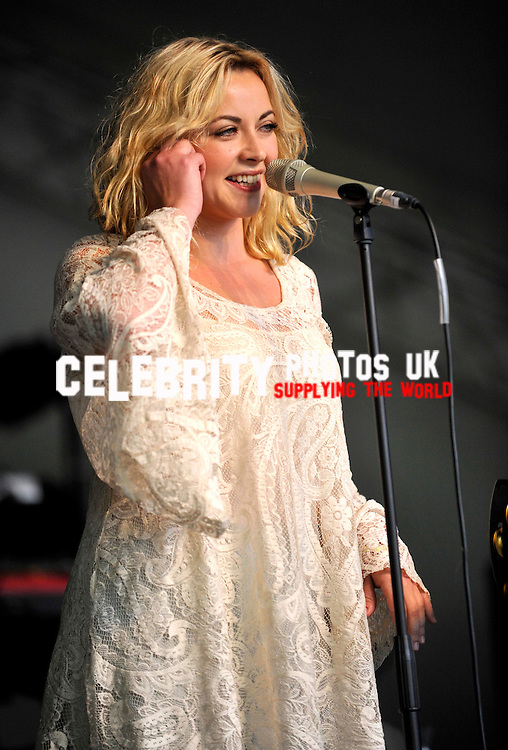 Charlotte Church performs on stage at the  Cornbury Festival the  Great Tew Park Oxfordshire  United Kingdom on June 29, 2012 United Kingdom