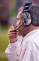 04 November 2006: Texas head coach Mack Brown watches his team from the sidelines during the Longhorns 36-10 victory over the Oklahoma State University Cowboys at Darrel K Royal Memorial Stadium in Austin, Texas.
