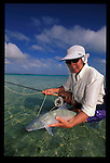 Cathy Beck with a Christmas Island Bonefish