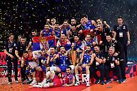 Players of Serbia celebrate the victory <br /> Parigi 29/09/2019 Bercy <br /> Volley European Championship Final <br /> Serbia - Slovenia  <br /> Photo JB Autissier / Panoramic / Insidefoto