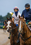 September 2, 2020:  Tiz the Law is ponied by trainer Barclay Tagg before he exercises for the 2020 Kentucky Derby at Churchill Downs in Louisville, Kentucky. The race is being run without fans due to the coronavirus pandemic that has gripped the world and nation for much of the year. Evers/Eclipse Sportswire/CSM