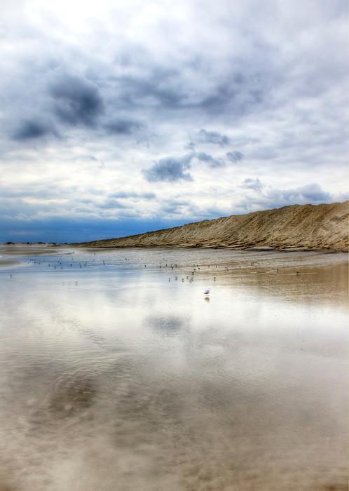 Reflections in the sand at Cedar Beach, Long Island